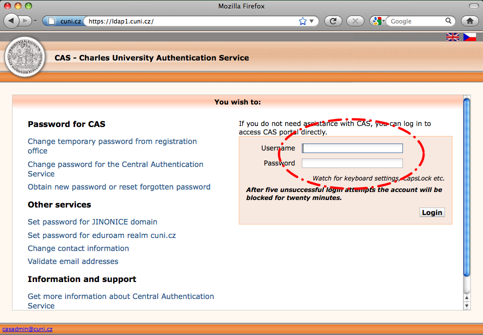 Electronic Information Resources Portal at CUNI